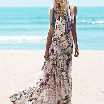 Haute Hippie Womens Sateen Twill Gown