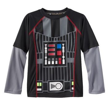 Star Wars a Collection for Kohl's Darth Vader Skater Tee - Toddler Boy, Size: