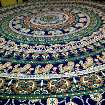 Bedspread Throws Table Cloth Fabric Tapestry Mandala Throw Beach throw Hippie Wall hanging Decor Tapestries