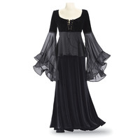Laurie Cabot Velvet and Chiffon Top - New Age, Spiritual Gifts, Yoga, Wicca, Gothic, Reiki, Celtic, Crystal, Tarot at Pyramid Collection