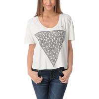 Obey Girls Keith Haring Triangle Vintage Crop Tee Shirt