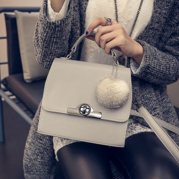 Korean Stylish Strong Character One Shoulder Bags Lock