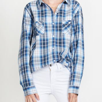 PREMIUM Lightweight Soft Cotton Long Sleeve Plaid Western Shirt
