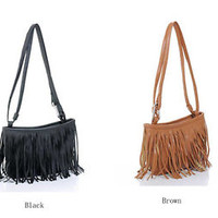 Cool2day Fashion Stylish Women Fringe Tassel Shoulder Bag Handbag Purses Wallet