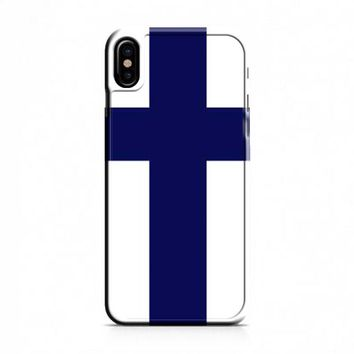 Finland Flag iPhone X Case