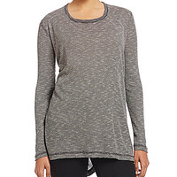 Blu Pepper Hi-Low Hem Tunic Top - Charcoal