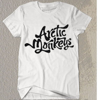 New Artic Monkeys Art Symbol Black and White T- Shirt  For Men Or Women Size TS13
