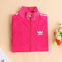 """Adidas"" Unisex Classic Clover Embroidery Three Bars Long Sleeve Sports Couple Coat Zip Tops"