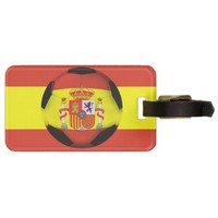 Spain Soccer Ball Luggage Tag