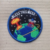 Bless This Mess Patch at Town Moto