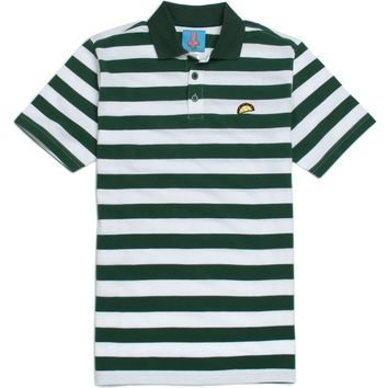 ODD FUTURE Taco Polo Shirt - Mens Tee - Green
