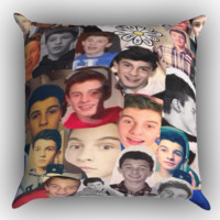 Shawn Mendes Collage Zippered Pillows  Covers 16x16, 18x18, 20x20 Inches