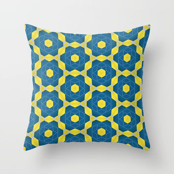 Keyline cubes Throw Pillow by g-man