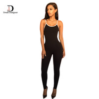 Summer Women Jumpsuits and rompers One piece Bodysuit Long Pants Sleeveless Bodycon Sexy Backless Black Jumpsuit Overalls
