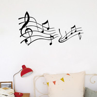 Home Wall Decals Decorations Living Room Bedroom Music Lover Big Music Note Wallstickers Home Decor Removable