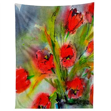 Ginette Fine Art Red Tulips 1 Tapestry
