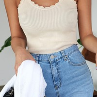 Wave Ribbed Camisole