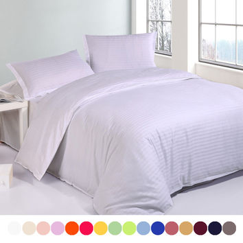 Cotton satin Hotel duvet cover set,Solid Double single bedding set king size,customizable,Contain duvet covers pillowcase#QY38