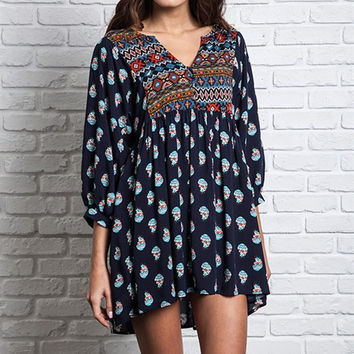 Printed Tunic Day Dress