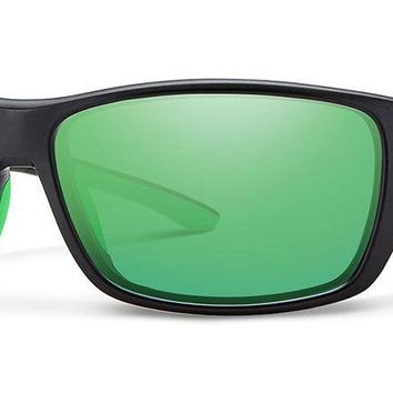 Smith - Forge Matte Black Sunglasses / Polarized Green Mirror Lenses
