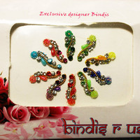Bindis in Fancy Indian Bride Crystal Bindi Collection