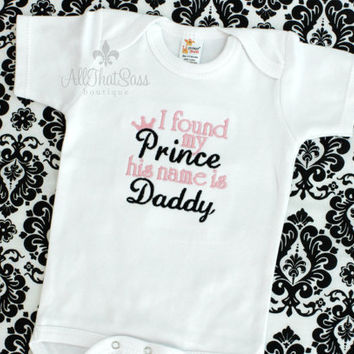 7a80d023 Girls Embroidered Onesuit or Shirt - Fathers Day Gift - Baby Shower Gift -  Princess -