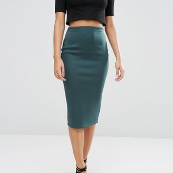 ASOS Pencil Skirt in Scuba at asos.com