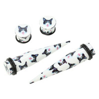 Acrylic Cat Heads Taper And Plug 4 Pack