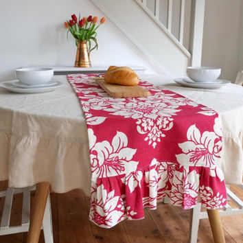 Table Runners in Vintage Laura Ashley Fabric - Gorgeous and Romantic Shabby Chic!