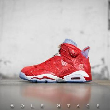 DCCKL8A Beauty Ticks Nike Air Jordan 6 Retro X Slam Dunk Varsity Red/varsity Red-white Basketball Shoes 717302 600