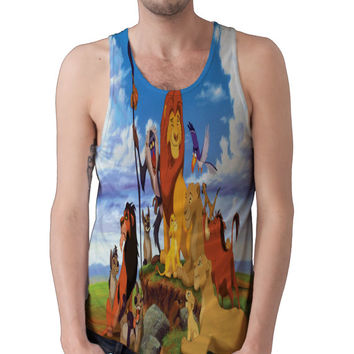 Lion King All Over Tank Top Soft Breathable Material Unisex Choose Women or Men