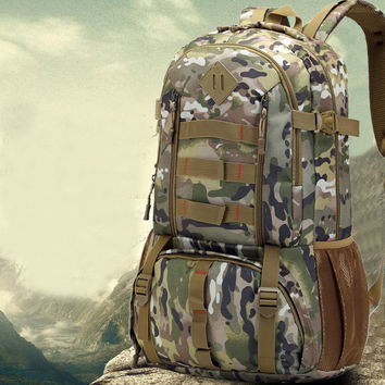 JACALINTERO Waterproof 50L Mens Men Backpack Rucksack Heavy Duty Bag Camouflage Backpacks Travel Bags Knapsack
