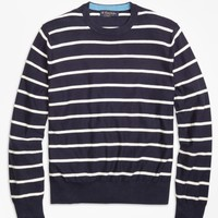 Lightweight Breton Stripe Crewneck Sweater - Brooks Brothers