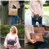 Monogrammed Clutch, Kendall Purse, Monogrammed Purse, Personalized Gifts, Gifts for Her, Bridesmaid Gifts, Christmas Gifts