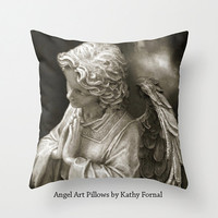 Angel Pillow Case Cover, Angel Praying Throw Pillow, Angel Throw Pillow Home Decor, Angel Home Decor, Decorative Angel Throw Pillow Cover