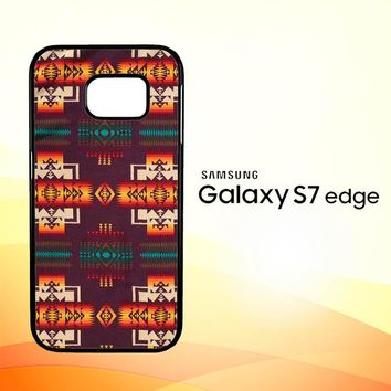 Pendleton Maroon Chief X5090 Samsung Galaxy S7 Edge Custom Case