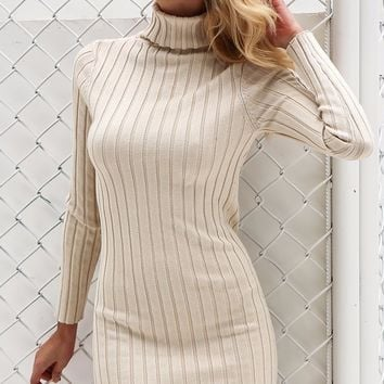 Elsie Ribbed Sweater Dress