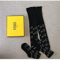 FENDI Mania White cotton tights