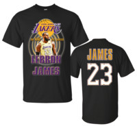 LEBRON JAMES LA LOS ANGELES LAKERS T-Shirt 5