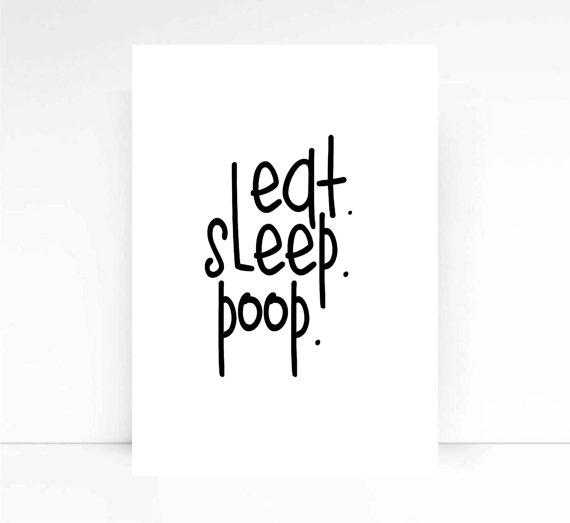 eat sleep baby quote baby from mixarthouse on etsy