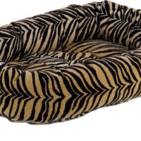 Bowsers Safari Microvelvet Donut Dog Bed