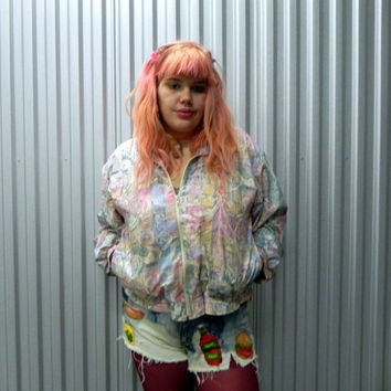 80s Natty Pastel Windbreaker
