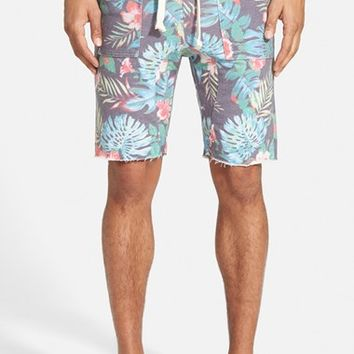 Men's Sol Angeles 'Noir' Floral Print French Terry Cutoff Shorts
