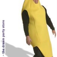 Men's Banana Adult Plus Costume - Yellow - Plus for Halloween