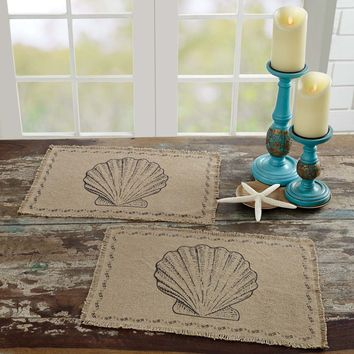 Sandy Tan Burlap Placemats