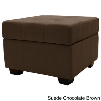 Vanderbilt Tufted Padded Hinged 24-inch Square Storage Ottoman Bench | Overstock.com Shopping - The Best Deals on Ottomans