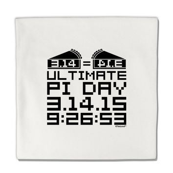 "Ultimate Pi Day Design - Mirrored Pies Micro Fleece 14""x14"" Pillow Sham by TooLoud"