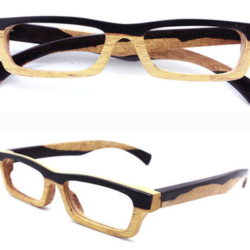 LOVE-Wood two-tone ebony prescrition RX glasses frame best of best from TAKEMOTO