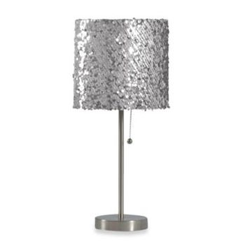 Silver Sequin Table Lamp