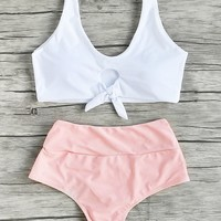 Swimsuit New Arrival Sexy Beach Summer Hot Swimwear High Waist Bikini [182790946831]